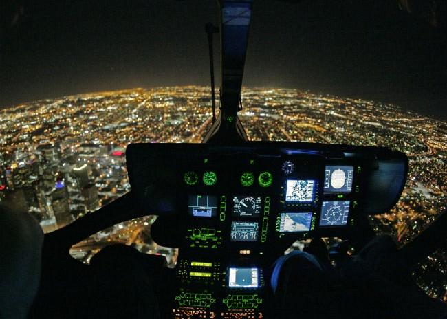 Szkolenie VFR noc na śmigłowcu