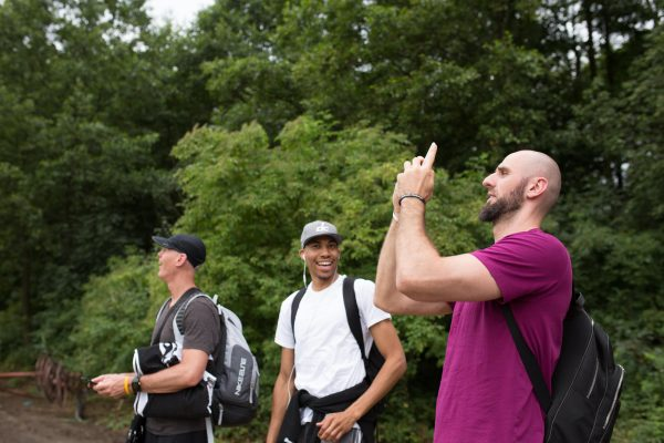 Koszykarze NBA lecący z Helipoland.com