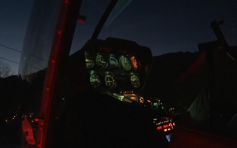 Szkolenie nocne na śmigłowcu VFR noc